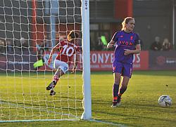 Ella Rutherford of Bristol City wheels away after making it 2-0 against Liverpool FC Women - Mandatory by-line: Paul Knight/JMP - 17/11/2018 - FOOTBALL - Stoke Gifford Stadium - Bristol, England - Bristol City Women v Liverpool Women - FA Women's Super League 1