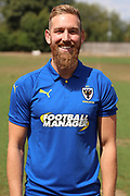AFC Wimbledon midfielder Scott Wagstaff (7) during the AFC Wimbledon 2018/19 official photocall at the Kings Sports Ground, New Malden, United Kingdom on 31 July 2018. Picture by Matthew Redman.