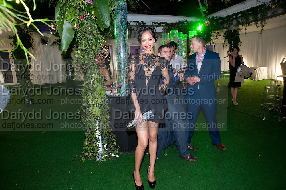 ZOE SALDANA, 2010 GLAMOUR AWARDS GIVEN BY GLAMOUR MAGAZINE. BERKELEY SQ. LONDON. 8 JUNE 2010. -DO NOT ARCHIVE-© Copyright Photograph by Dafydd Jones. 248 Clapham Rd. London SW9 0PZ. Tel 0207 820 0771. www.dafjones.com.