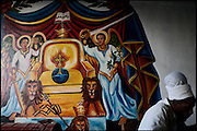 """A painting of the religious symbolism Rasta, at """"One Two"""" fast food restaurant. Shashemene, south Ethiopia, on saturday, March 22 2008.....""""Shashamene or Shashemene (ethiopian name), located in the Oromia Region of Ethiopia, is """"the place"""", the ancestral homeland. For the whole Rastafarians repatriation to Africa or to Zion or to the Promise Land is the first goal. Rastas assert that """"Mount Zion"""" is a place promised by Jah and they  claim themselves to represent the real Children of Israel in modern times. During the last years of the 40's, Emperor Haile Selassie I, considerated from that movement incarnation of God, donated 500 acres of his private land to members and other settlers from Jamaica including other parts of the Caribbean..The Rastafarian settlement in Shashamane was recently reported to exceed two hundred families. In January 2007 it organized an exhibition and a bazaar in the city. It was also reported recently prior to the Ethiopian Millennium that various pro-Ethiopian World Federation groups, consisting of indigenious Ethiopians and Rastafarians, have given support to one of many five year plans proposed for sustainable development of Shashamene, Ethiopia."""""""