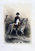 Napoleon I   (1769-1821).  'Napoleon 1er et la Garde Imperiale' by Eugene Fieffe, Paris, 1858.