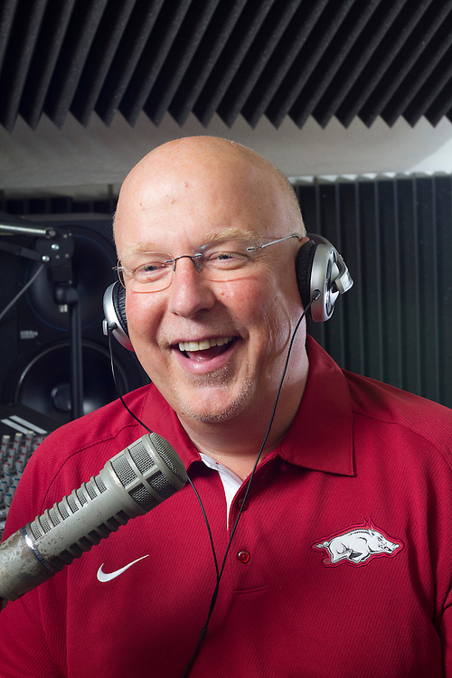 Arkansas Razorback sports announcer Chuck Barrett.for Arkansas Life Magazine