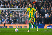Craig Dawson of West Bromwich Albion (25) in action during the EFL Sky Bet Championship match between Leeds United and West Bromwich Albion at Elland Road, Leeds, England on 1 March 2019.