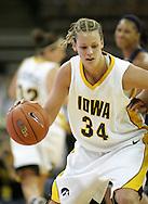 28 NOVEMBER 2007: Iowa forward Johanna Solverson (34) in the second half of Georgia Tech's 76-57 win over Iowa in the Big Ten/ACC Challenge at Carver-Hawkeye Arena in Iowa City, Iowa on November 28, 2007.
