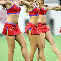Dancers perform during a United Soccer League Pro soccer match between the Pittsburgh Riverhounds and the Orlando City Lions at the Florida Citrus Bowl on May 14, 2011 in Orlando, Florida. Orlando won the game 1-0. (AP Photo/Alex Menendez)