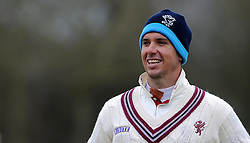 Somerset's Jim Allenby - Photo mandatory by-line: Harry Trump/JMP - Mobile: 07966 386802 - 23/03/15 - SPORT - CRICKET - Pre Season Fixture - Day 1 - Somerset v Glamorgan - Taunton Vale Cricket Club, Somerset, England.