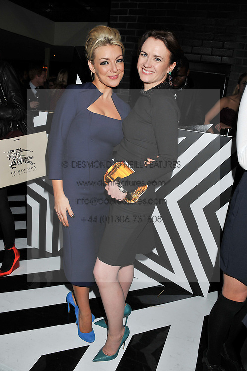 Left to right, SHERIDAN SMITH and EILIDH MACASKILL Editor of InStyle at the InStyle Best of British Talent Event in association with Lancôme and Avenue 32 held at The Rooftop Restaurant, Shoreditch House, Ebor Street, London E1 on 30th January 2013.
