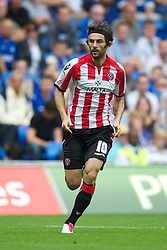 CARDIFF, WALES - Sunday, August 8, 2010: Sheffield United's Daniel Bogdanovic in action against Cardiff City during the League Championship match at the Cardiff City Stadium. (Pic by: David Rawcliffe/Propaganda)