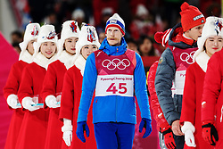 February 17, 2018 - Pyeongchang, SOUTH KOREA - 180217 Robert Johansson of Norway on his way to a ceremony after winning the bronze medal in the men's large hill individual final during day eight of the 2018 Winter Olympics on February 17, 2018 in Pyeongchang..Photo: Carl Sandin / BILDBYRÃ…N / kod CS / 57999_303 (Credit Image: © Carl Sandin/Bildbyran via ZUMA Press)