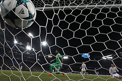 Basel's Michael Lang (not pictured) scores 1-0 against Manchester United's goalkeeper Sergio Romero (C) during the UEFA Champions League group A match between Basel and Manchester United in Basel, Switzerland, November 22, 2017. Basel won 1-0. (Credit Image: © Ruben Sprich/Xinhua via ZUMA Wire)