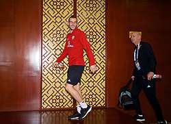 NANNING, CHINA - Sunday, March 25, 2018: Wales' Gareth Bale arrives for a press conference at the Guangxi Sports Centre ahead of the 2018 Gree China Cup International Football Championship final match against Uruguay. (Pic by David Rawcliffe/Propaganda)