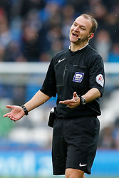 referee Robert Madley - Photo mandatory by-line: Rogan Thomson/JMP - 07966 386802 - 28/02/2015 - SPORT - FOOTBALL - Cardiff, Wales - Cardiff City Stadium - Cardiff City v Wolverhampton Wanderers - Sky Bet Championship.