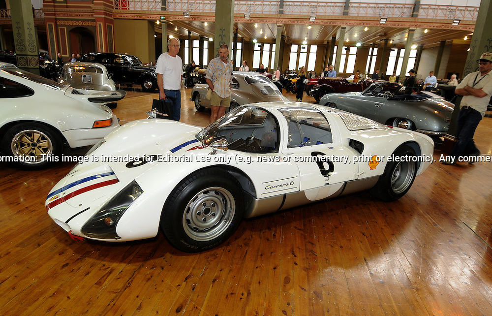 1966 Porsche 906 - RACV Motorclassica.The Australian International Concours d'Elegance & Classic Motor Show.Royal Exhibition Building .Carlton, Melbourne, Victoria.October 22nd 2011.(C) Joel Strickland Photographics.Use information: This image is intended for Editorial use only (e.g. news or commentary, print or electronic). Any commercial or promotional use requires additional clearance.