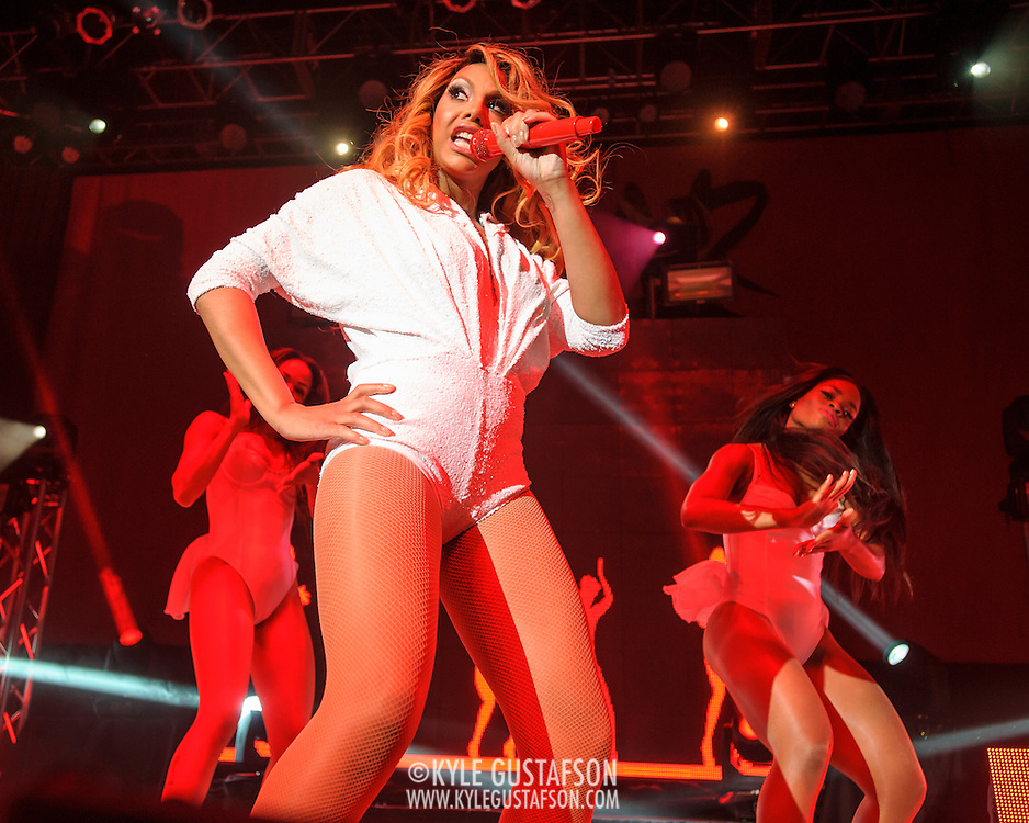 "SILVER SPRING, MD - May 22nd, 2014 - Tamar Braxton performs at the Fillmore Silver Spring in Silver Spring, MD. Braxton's music career has taken off after being featured on WE tv reality show ""Meet The Braxtons,"" which lead to her own spin-off show ""Tamar & Vince.""  (Photo by Kyle Gustafson / For The Washington Post)"