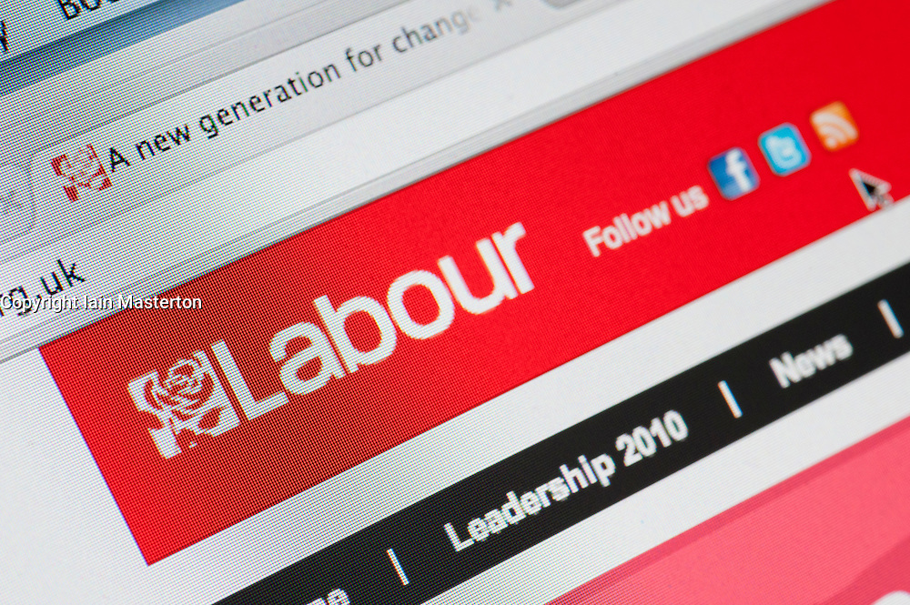 Detail of screenshot from website of the Labour political party in the United Kingdom