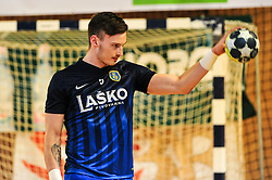 Malus Jaka of RK Celje Pivovarna Lasko prior handball match between RK Krka and RK Celje Pivovarna Lasko in the Final of Slovenian Men Handball Cup 2018, on April 22, 2018 in Sportna dvorana Ljutomer , Ljutomer, Slovenia. Photo by Mario Horvat / Sportida