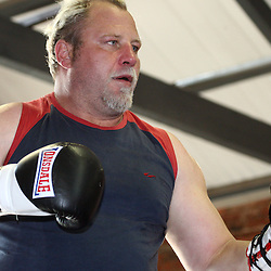 DURBAN, SOUTH AFRICA - AUGUST 29, Francois Botha 'White Buffalo' during a boxing and sparring session at Train Gymnasium on August 29, 2012 in Durban, South Africa<br /> Photo by Steve Haag / Gallo Images