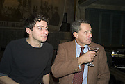 ANDREW GLASS AND CHARLES GLASS, Discover Wilton's Music Hall, Fundraising event. Graces alley, Ensign St. London. 5 December 2007. -DO NOT ARCHIVE-© Copyright Photograph by Dafydd Jones. 248 Clapham Rd. London SW9 0PZ. Tel 0207 820 0771. www.dafjones.com.
