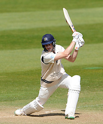 Middlesex's Adam Voges drives the ball. - Photo mandatory by-line: Harry Trump/JMP - Mobile: 07966 386802 - 29/04/15 - SPORT - CRICKET - LVCC Division One - County Championship - Somerset v Middlesex - Day 4 - The County Ground, Taunton, England.