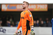 AFC Wimbledon goalkeeper George Long (1) walking off pitch during the EFL Sky Bet League 1 match between AFC Wimbledon and Oxford United at the Cherry Red Records Stadium, Kingston, England on 10 March 2018. Picture by Matthew Redman.