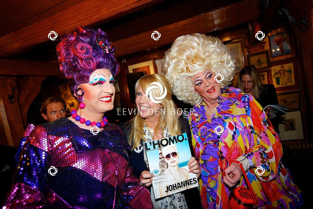 VOLENDAM - In Hotel Spaander is de nieuwe cover onthult van het magazine L'HOMO 5e editie. Met op de foto  Linda de Mol. FOTO LEVIN DEN BOER - PERSFOTO.NU