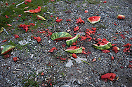 A still life of left over water melon. Detroit, USA, 2011