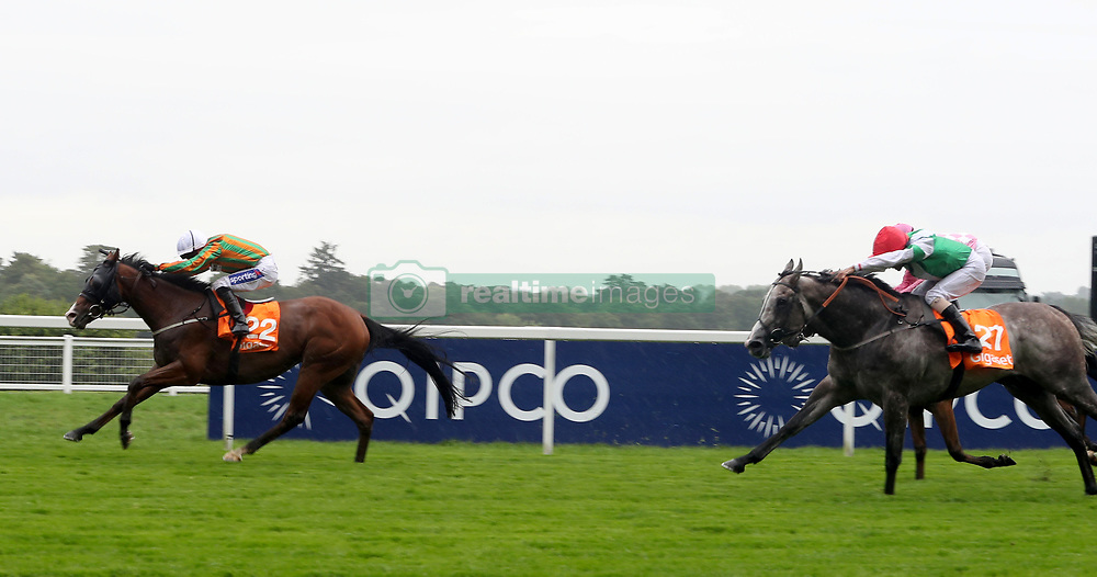 Stamp Hill ridden by Paul Hanagan wins The Gigaset International Stakes Race run during day two of King George VI Weekend at Ascot Racecourse, Berkshire.