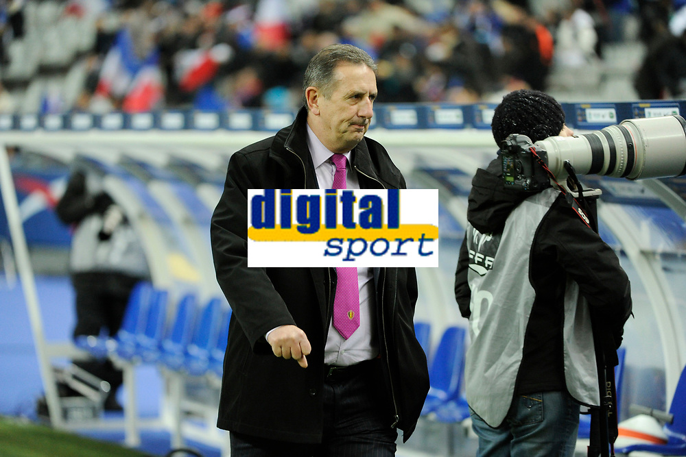 FOOTBALL - FRIENDLY GAME 2011 - FRANCE v BELGIUM - 15/11/2011 - PHOTO JEAN MARIE HERVIO / DPPI - GEORGES LEEKENS ( BELGIUM COACH )