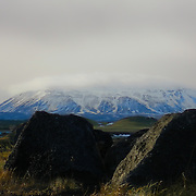 Krafla is a caldera of about 10 km in diameter with a 90 km long fissure zone, in the north of Iceland in the Mývatn region.
