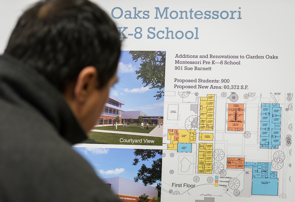 Bond community meeting at Garden Oaks Elementary School, February 2, 2016.