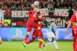 26.08.2015, BayArena, Leverkusen, GER, UEFA CL, Bayer 04 Leverkusen vs Lazio Rom, Playoff, Rückspiel, im Bild Christoph Kramer (#23, Bayer 04 Leverkusen) mit Wendell (#18, Bayer 04 Leverkusen) // during UEFA Champions League Playoff 2nd Leg match between Bayer 04 Leverkusen and SS Lazio at the BayArena in Leverkusen, Germany on 2015/08/26. EXPA Pictures © 2015, PhotoCredit: EXPA/ Eibner-Pressefoto/ Deutzmann<br /> <br /> *****ATTENTION - OUT of GER*****