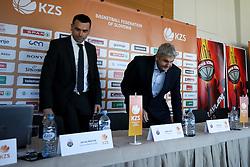 Jernej Mocnik and Ales Pipan at press conference before new season of KZS Nova KBM League 2016/17, on October 04, 2016, in Radisson Blu Plaza Hotel, Ljubljana. Photo by Matic Klansek Velej / Sportida.
