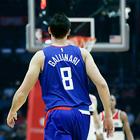 09 December 2017: LA Clippers forward Danilo Gallinari (8) is seen during the LA Clippers 113-112 victory over the Washington Wizards, at the Staples Center, Los Angeles, California, USA.