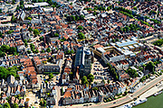 Nederland, Overijssel, Deventer, 17-07-2017; overzicht binnenstad Deventer met o.a. Lebuinuskerk, IJsselkade, Welle.<br /> Overview downtown Deventer, Deventer city centre.<br /> <br /> luchtfoto (toeslag op standard tarieven);<br /> aerial photo (additional fee required);<br /> copyright foto/photo Siebe Swart