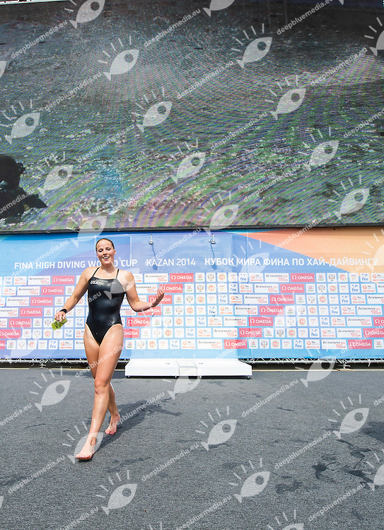 SIMPSON Rachelle USA<br /> Women Competition <br /> FINA High Diving World Cup 2014<br /> Kazan Tatartsan Russsia RUS Aug. 8 to 10 2014<br /> Kazanka River  Day02 - Aug.9 <br /> Photo G. Scala/Deepbluemedia