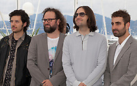 Composer Rich Vreeland, film editor Julio Perez IV, director David Robert Mitchell and cinematographer Mike Gioulakis at the Under The Silver Lake film photo call at the 71st Cannes Film Festival, Wednesday 16th May 2018, Cannes, France. Photo credit: Doreen Kennedy