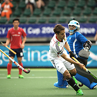 DEN HAAG - Rabobank Hockey World Cup<br /> 29 Germany - Korea<br /> Foto: Benedikt Furk scores 2-0<br /> COPYRIGHT FRANK UIJLENBROEK FFU PRESS AGENCY