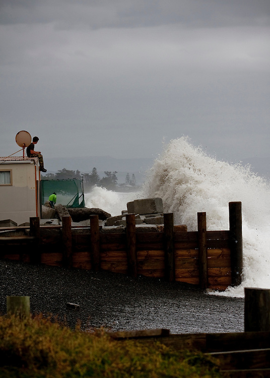 High seas, file picture, Haumoana, Napier, New Zealand, New Zealand, Monday, June 11, 2011.  Credit: SNPA / Bethelle McFedries