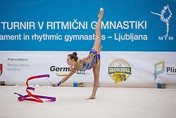 Tomazin Anja of Slovenia competes during 29th MTM - International tournament in rhythmic gymnastics Ljubljana, on March 12, 2016 in gymnastics center Ljubljana, Ljubljana, Slovenia.  Photo by Grega Valancic / Sportida