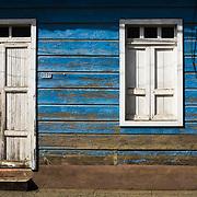 House facade on Marti street, Baracoa, Cuba, on Saturday July 12, 2008.