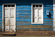 House facade on Marti street, Baracoa, Cuba, on Saturday July 12, 2008.