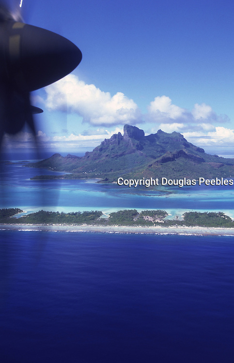Aerial of Bora Bora, French Polynesia<br />