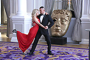 DANCERS KRISTINA RHINOV AND ROBIN WINDSOR AT THE CORINTHIA HOTEL WESTMINSTER AT THE BAFTA STYLE SUITES.25.4.13.PIX STEVE BUTLER