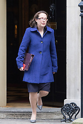 Downing Street, London, January 17th 2017. Lord Privy Seal and Leader of the House of Lords Baroness Natalie Evans  leaves 10 Downing Street following the weekly cabinet meeting, ahead of Prime Minister Theresa May's key Brexit speech.