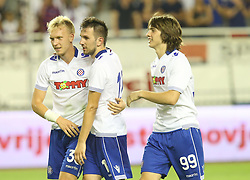 30.07.2015, Stadion Poljud, Split, CRO, UEFA EL, Hajduk Split vs Stroemsgodset IF, Qualifikation, 3. Runde, Hinspiel, im Bild Andrija Balic Jubel // during the UEFA Europa League Qualifier 3rd round, 1st Leg Match between Hajduk Split and Stroemsgodset IF at the Stadion Poljud in Split, Croatia on 2015/07/30. EXPA Pictures © 2015, PhotoCredit: EXPA/ Pixsell/ Ivo Cagalj<br /> <br /> *****ATTENTION - for AUT, SLO, SUI, SWE, ITA, FRA only*****