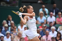 Magdalena Rybarikova (SVK) during her semi final round match at the 2017 Wimbledon Championships at the AELTC in London, GREAT BRITAIN, on July 13, 2017. Photo by Corinne Dubreuil/ABACAPRESS.COM