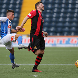 Adam Frizzell fouls  during the Kilmarnock v Dumbarton Betfred Cup Group E  29nd July 2017 <br /> <br /> <br /> <br /> <br /> (c) Andy Scott | SportPix.org.uk