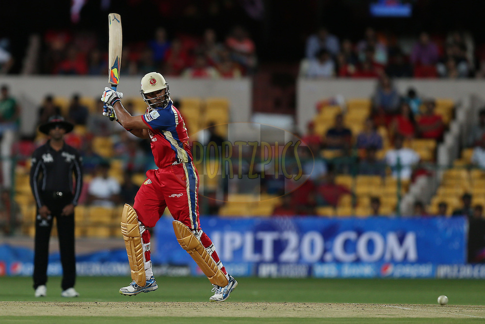 Yuvraj Singh during match 24 of the Pepsi Indian Premier League Season 2014 between the Royal Challengers Bangalore and the Sunrisers Hyderabad held at the M. Chinnaswamy Stadium, Bangalore, India on the 4th May 2014. Photo by Jacques Rossouw / IPL / SPORTZPICS<br /> <br /> <br /> <br /> Image use subject to terms and conditions which can be found here:  http://sportzpics.photoshelter.com/gallery/Pepsi-IPL-Image-terms-and-conditions/G00004VW1IVJ.gB0/C0000TScjhBM6ikg