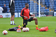 Jamille Matt during the Sky Bet League 1 match between Bury and Fleetwood Town at Gigg Lane, Bury, England on 18 August 2015. Photo by Mark Pollitt.