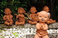 Handcrafted clay dolls, Koh Samet, Thailand